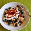 Yoghurt with Fruit and Date Syrup