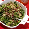 Broccoli, Asparagus & Sprouted Quinoa Salad