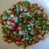 Pomegranate, Rice and Mung Bean Salad