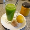 Green Juice with Turmeric and Ginger