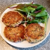 Sprouted Bean Burgers with Lentils and Courgettes
